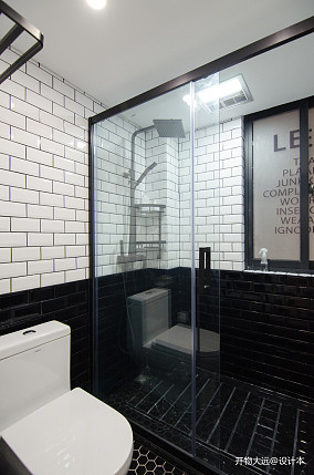 平现代小户型卫生间装潢图一居现代简约家装装修案例效果图