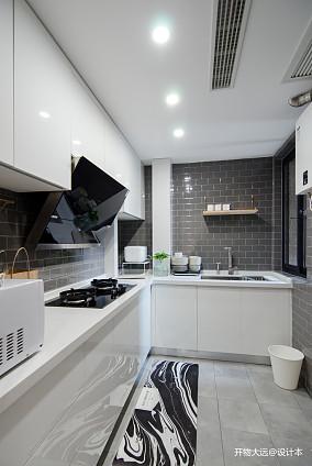 精致26平现代小户型厨房装修图一居现代简约家装装修案例效果图