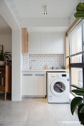 精致29平现代小户型阳台装饰图一居现代简约家装装修案例效果图