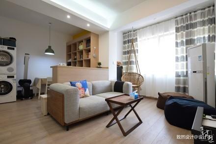 201967平现代二居客厅实拍图二居现代简约家装装修案例效果图