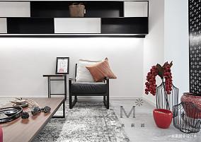 优雅83平中式二居效果图欣赏二居中式现代家装装修案例效果图