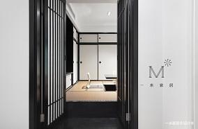 简洁88平中式二居图片欣赏二居中式现代家装装修案例效果图
