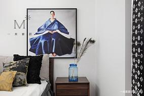 精致75平中式二居布置图二居中式现代家装装修案例效果图