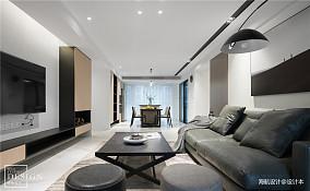 优雅107平现代四居客厅实拍图
