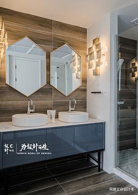 优美450平现代别墅卫生间效果图欣赏别墅豪宅现代简约家装装修案例效果图