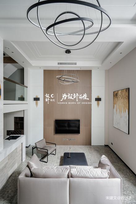华丽569平现代别墅客厅实景图片