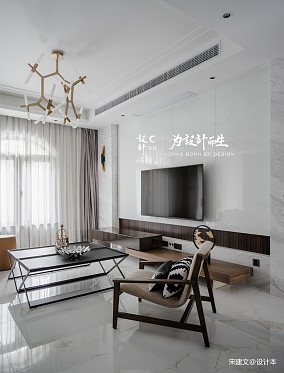 华丽244平现代别墅客厅案例图别墅豪宅现代简约家装装修案例效果图