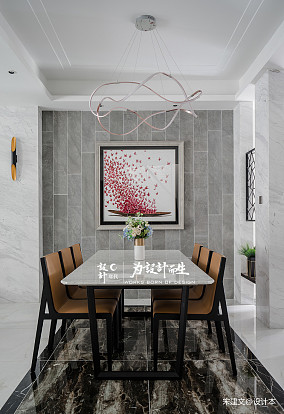 精致240平现代别墅餐厅装修装饰图