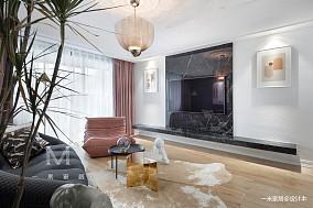 华丽94平现代三居装饰美图三居现代简约家装装修案例效果图