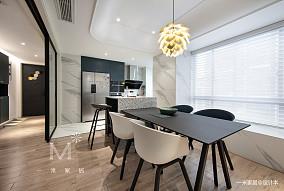 明亮106平现代三居图片大全三居现代简约家装装修案例效果图