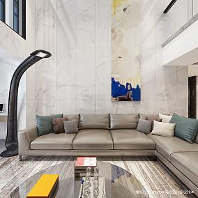 精美268平简约复式客厅实拍图复式现代简约家装装修案例效果图