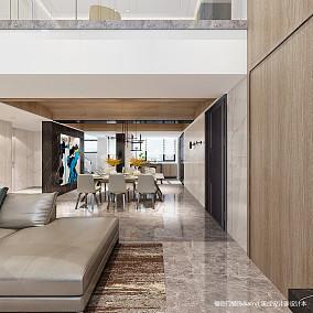 典雅54平简约复式餐厅效果图欣赏复式现代简约家装装修案例效果图
