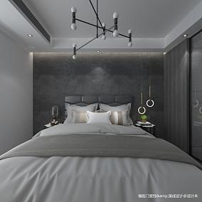 明亮56平简约复式卧室装修效果图复式现代简约家装装修案例效果图