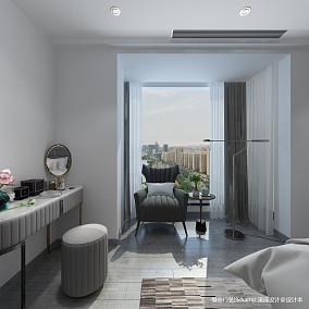 温馨51平简约复式卧室装修设计图复式现代简约家装装修案例效果图