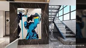 温馨46平简约复式玄关装潢图复式现代简约家装装修案例效果图