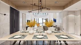 优雅84平简约复式餐厅装饰图复式现代简约家装装修案例效果图