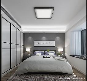 华丽81平简约复式卧室实景图片复式现代简约家装装修案例效果图