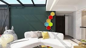 精致77平简约复式设计美图复式现代简约家装装修案例效果图