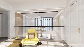 精美69平简约复式图片欣赏复式现代简约家装装修案例效果图