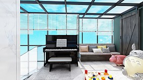 精美80平简约复式装修图复式现代简约家装装修案例效果图