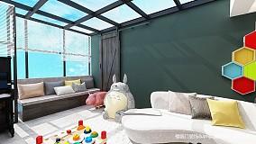 悠雅68平简约复式效果图片大全复式现代简约家装装修案例效果图