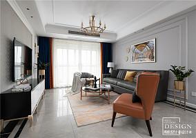 大气105平美式三居客厅图片大全