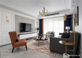 温馨137平美式三居客厅效果图