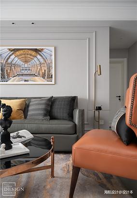 温馨119平美式三居客厅装潢图