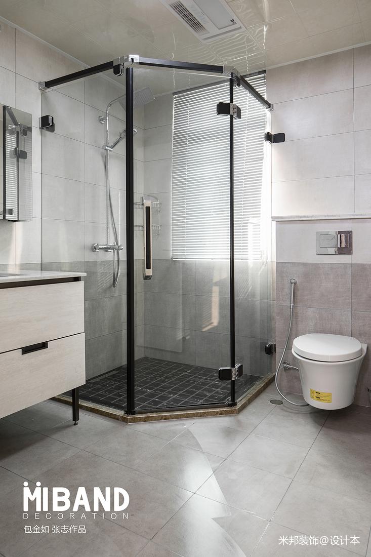 质朴89平混搭三居卫生间实拍图卫生间潮流混搭卫生间设计图片赏析