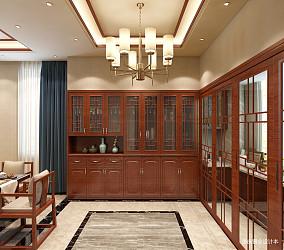 浪漫715平中式别墅餐厅装修设计图别墅豪宅中式现代家装装修案例效果图