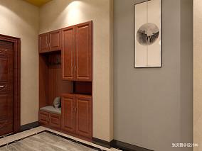 简洁479平中式别墅玄关设计案例别墅豪宅中式现代家装装修案例效果图
