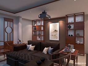 大气625平中式别墅装修效果图别墅豪宅中式现代家装装修案例效果图