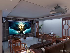 浪漫435平中式别墅设计效果图别墅豪宅中式现代家装装修案例效果图