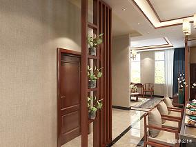 轻奢935平中式别墅过道效果图欣赏别墅豪宅中式现代家装装修案例效果图