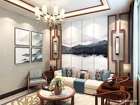 质朴932平中式别墅客厅实拍图别墅豪宅中式现代家装装修案例效果图