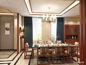 优美799平中式别墅餐厅图片大全别墅豪宅中式现代家装装修案例效果图