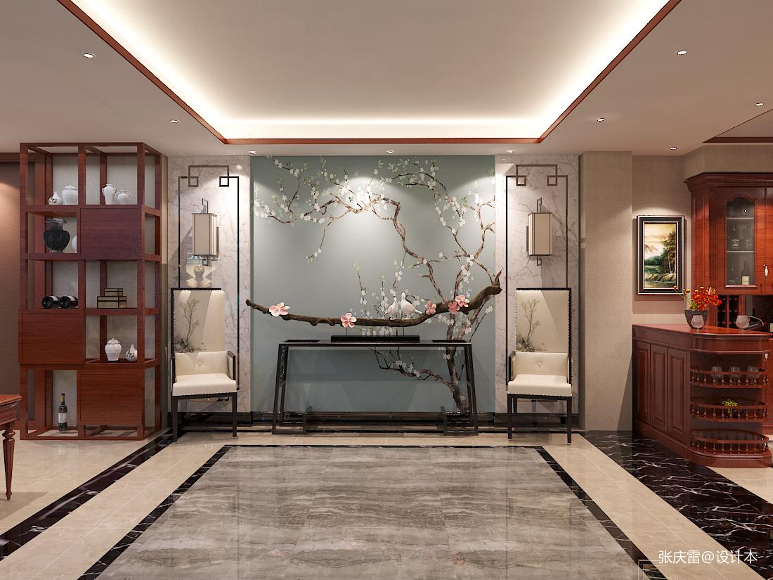 观山闲居中式别墅室内设计客厅中式现代客厅设计图片赏析