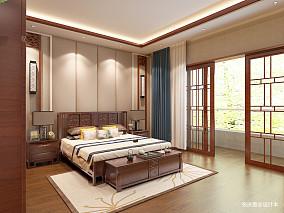 优雅878平中式别墅卧室案例图别墅豪宅中式现代家装装修案例效果图