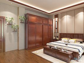 精致616平中式别墅卧室装修设计图别墅豪宅中式现代家装装修案例效果图