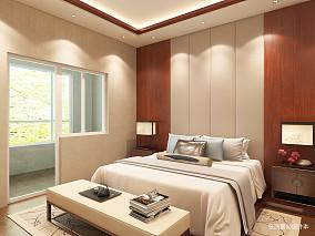 典雅326平中式别墅卧室实景图别墅豪宅中式现代家装装修案例效果图