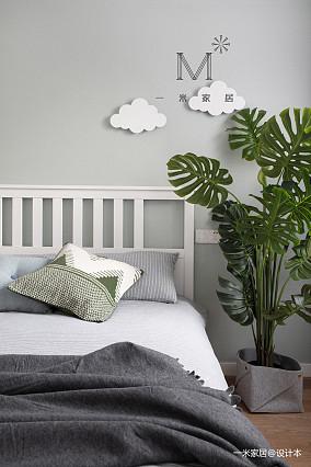 质朴80平宜家三居实景图卧室3图现代简约卧室设计图片赏析
