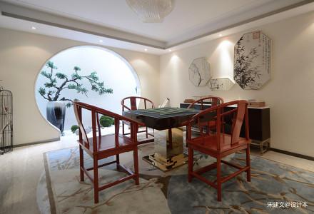 简洁149平中式四居装饰美图