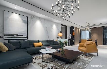 温馨73平简约三居客厅设计图
