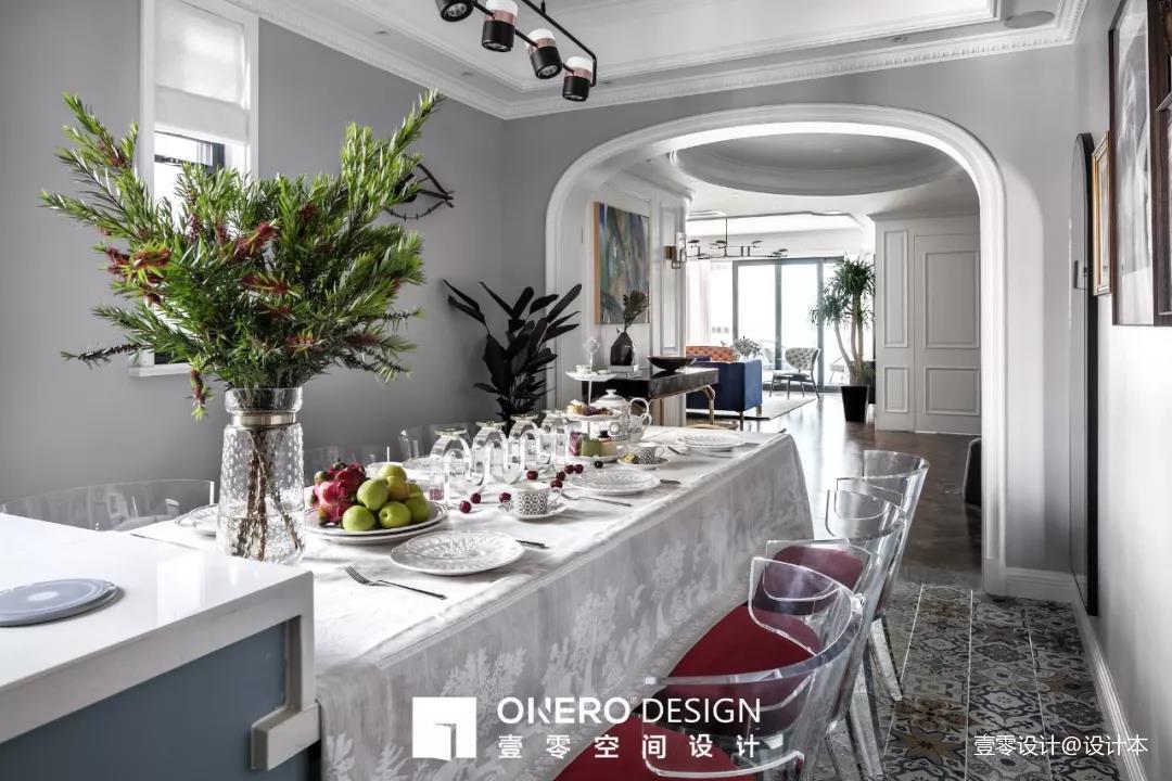 质朴127平混搭三居餐厅设计效果图厨房洗漱台潮流混搭餐厅设计图片赏析