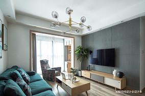 温馨76平北欧三居客厅美图