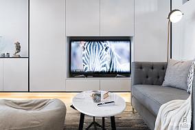 优美70平简约复式客厅装潢图