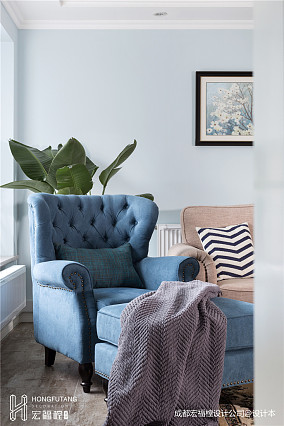 质朴121平美式三居客厅设计美图