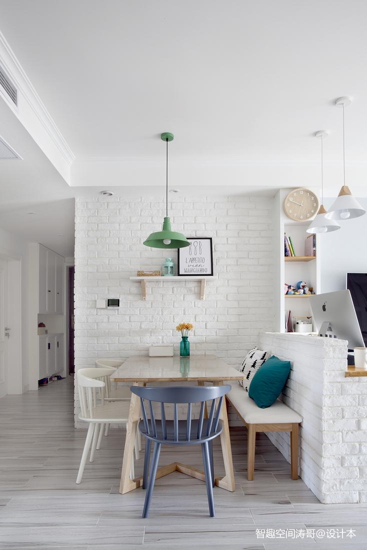 质朴60平北欧二居餐厅布置图厨房北欧极简餐厅设计图片赏析