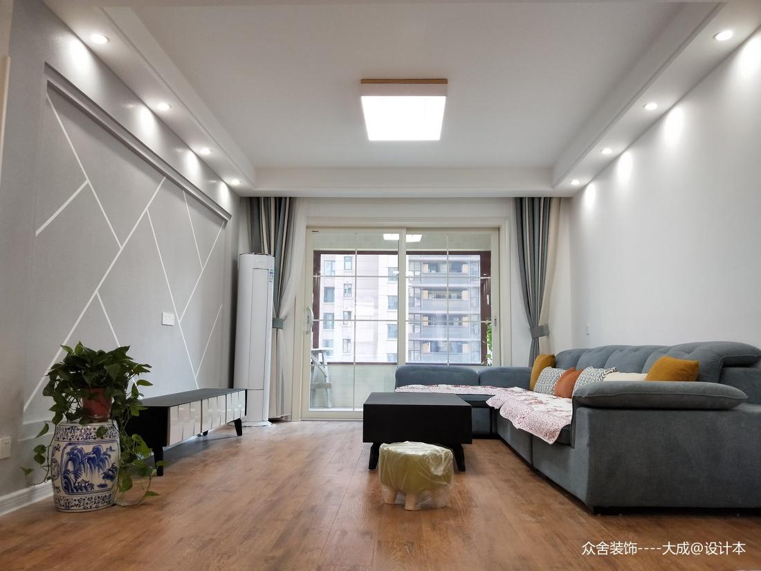 溫馨103平現代四居客廳布置圖客廳現代簡約客廳設計圖片賞析