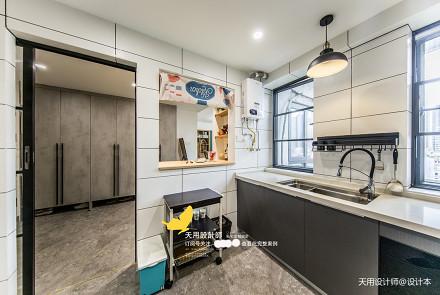 质朴120平北欧四居厨房装饰图片